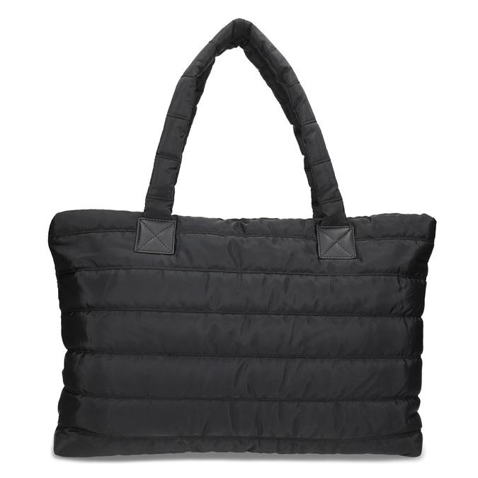 Dámská čierna kabelka s prešitím bata, čierna, 969-6810 - 26