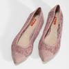 Ružové čipkované baleríny do špičky bata-red-label, ružová, 529-8643 - 16