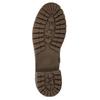 Béžové dámske čižmy s kožúškom bata, hnedá, 691-3643 - 18
