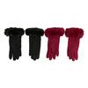 Dámske rukavice s kožúškom bata, viacfarebné, 909-0505 - 16
