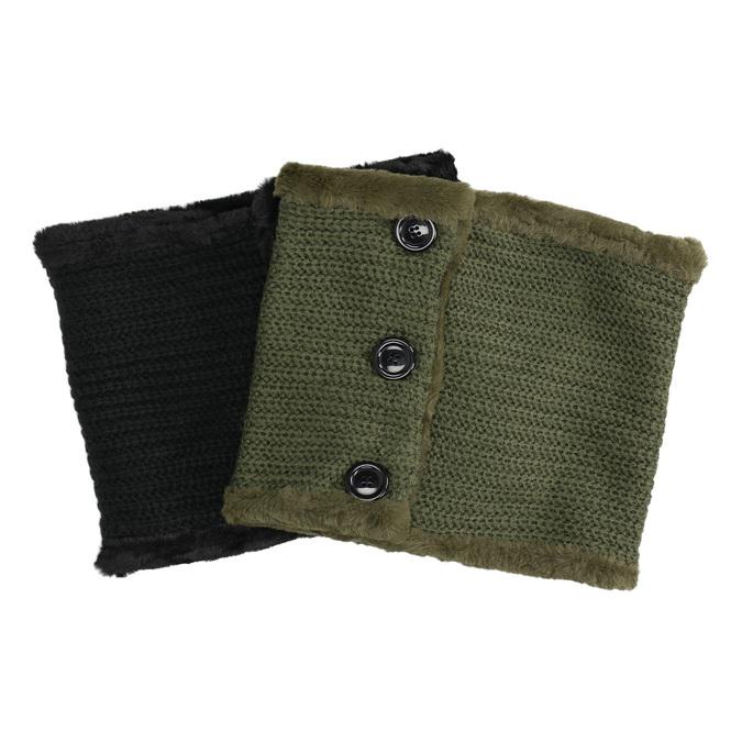 Pletený nákrčník s kožušinkou bata, viacfarebné, 909-0527 - 13
