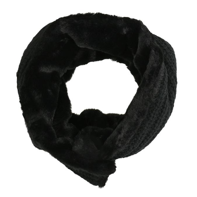 Pletený nákrčník s kožušinkou bata, viacfarebné, 909-0527 - 26