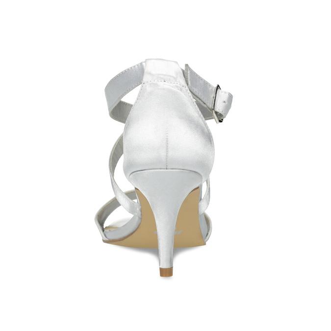 Strieborné sandále na ihličkovom podpätku insolia, strieborná, 729-1633 - 15