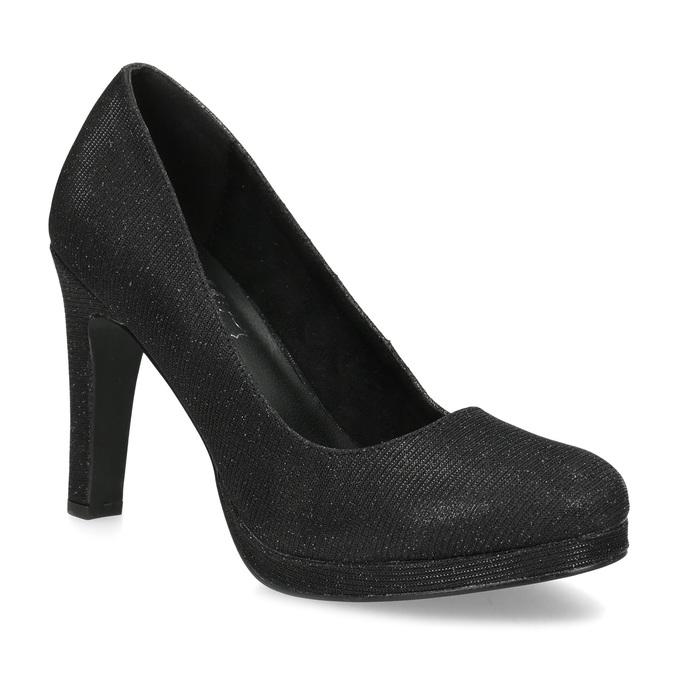 Čierne trblietavé dámske lodičky insolia, čierna, 729-6632 - 13