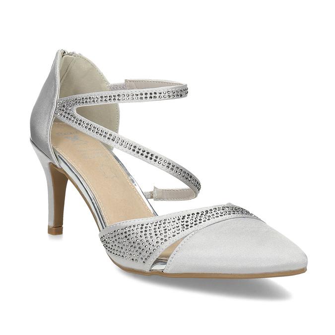 2c162f780dbd8 Strieborné dámske sandále na ihličkovom podpätku insolia, strieborná,  729-1634 - 13