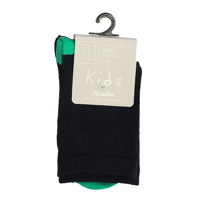 Detské vysoké zelené ponožky bata, zelená, 919-7686 - 13