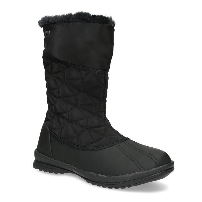 Dámska čierna zimná obuv s prešívaním bata, čierna, 599-6624 - 13