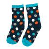 Detské modré vysoké ponožky s bodkami bata, modrá, 919-9686 - 26