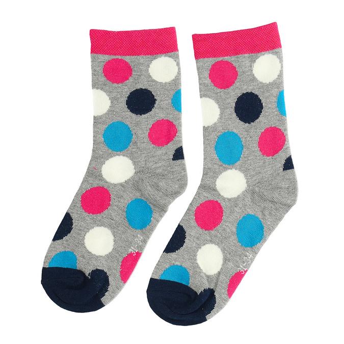 Detské vysoké bodkované ružové ponožky bata, viacfarebné, 919-5686 - 26