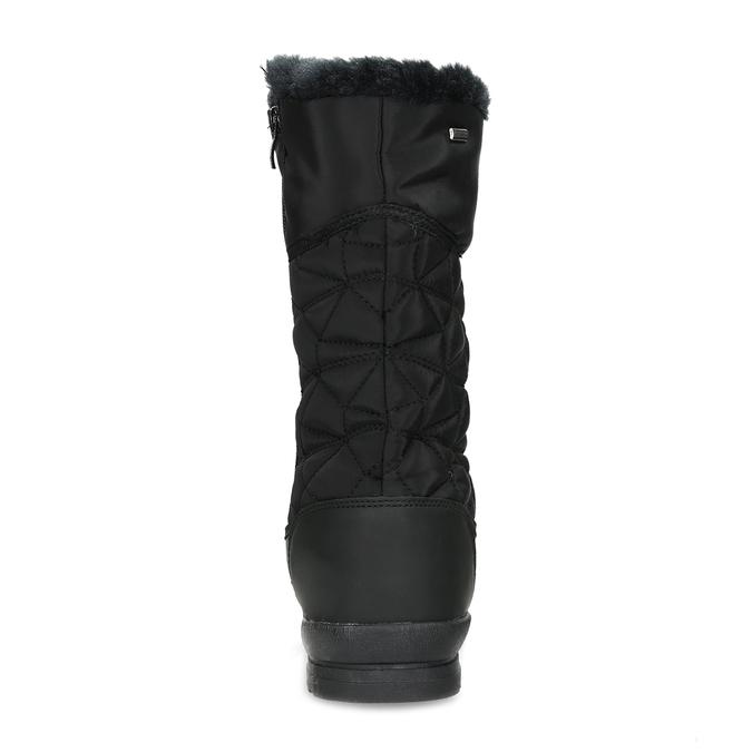 Dámska čierna zimná obuv s prešívaním bata, čierna, 599-6624 - 15