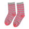 Detské vysoké pruhované ponožky bata, šedá, 919-2686 - 26