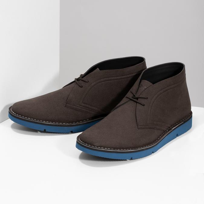 Hnedá pánska členková obuv bata-b-flex, hnedá, 899-4600 - 16