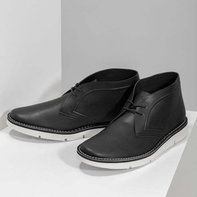 Čierna pánska členková obuv bata-b-flex, čierna, 899-6601 - 16