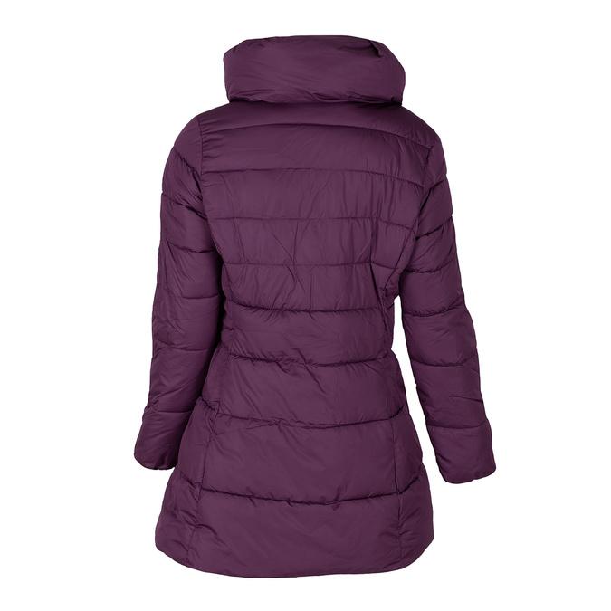 Dlhá dámska fialová bunda s prešitím bata, fialová, 979-0348 - 26