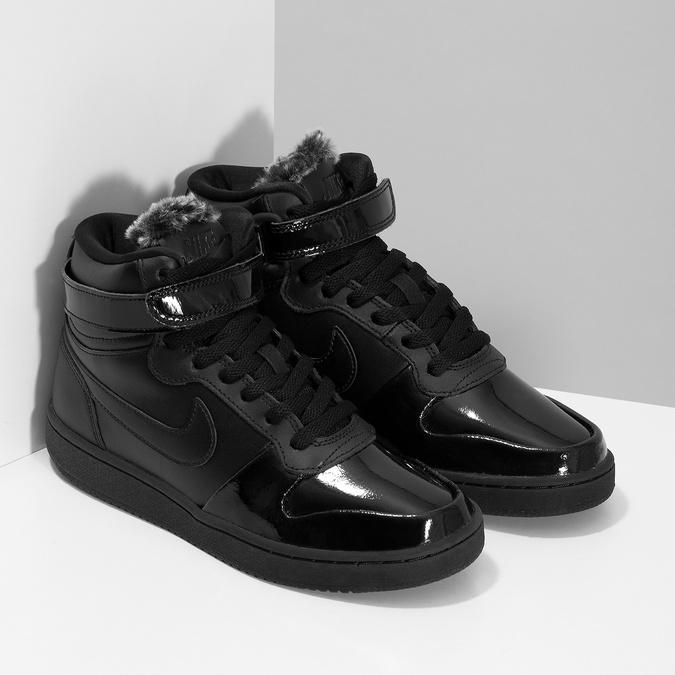 Čierne dámske členkové tenisky nike, čierna, 501-6944 - 26