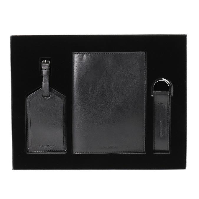 Sada púzdra na pas, menovka na kufor a kľúčenka royal-republiq, čierna, 944-6004 - 13