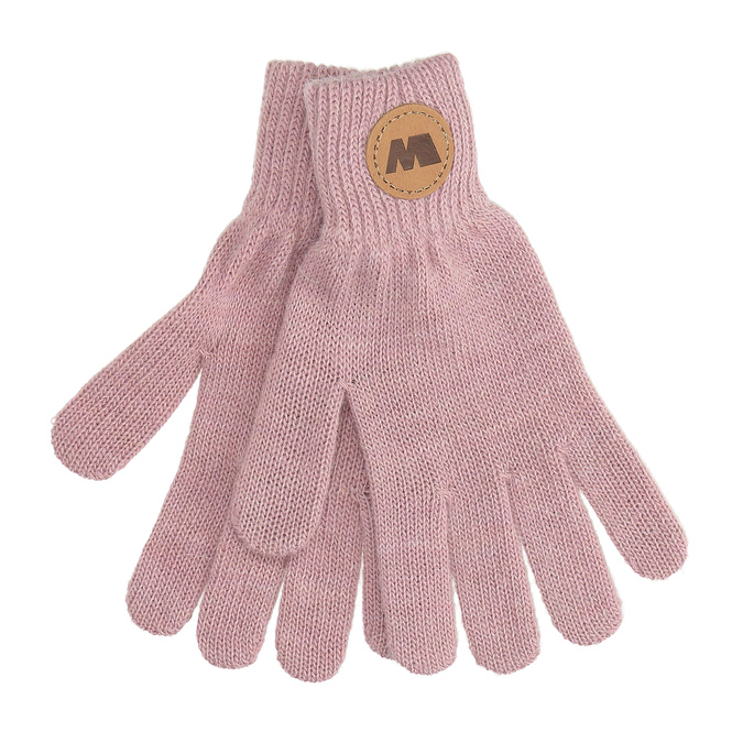 Dámske ružové rukavice s hnedým logom weinbrenner, ružová, 909-5734 - 13