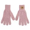 Dámske ružové rukavice s hnedým logom weinbrenner, ružová, 909-5734 - 26