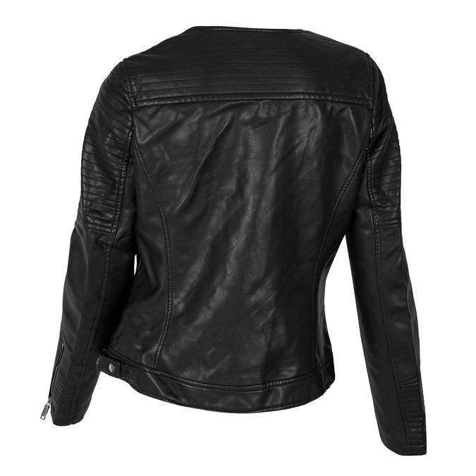 Čierna dámska bunda s asymetrickým zipsom bata, čierna, 971-6215 - 26