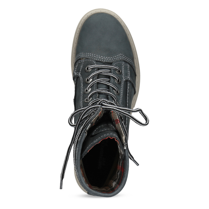 Kožená dámska vysoká obuv weinbrenner, šedá, 596-2746 - 17