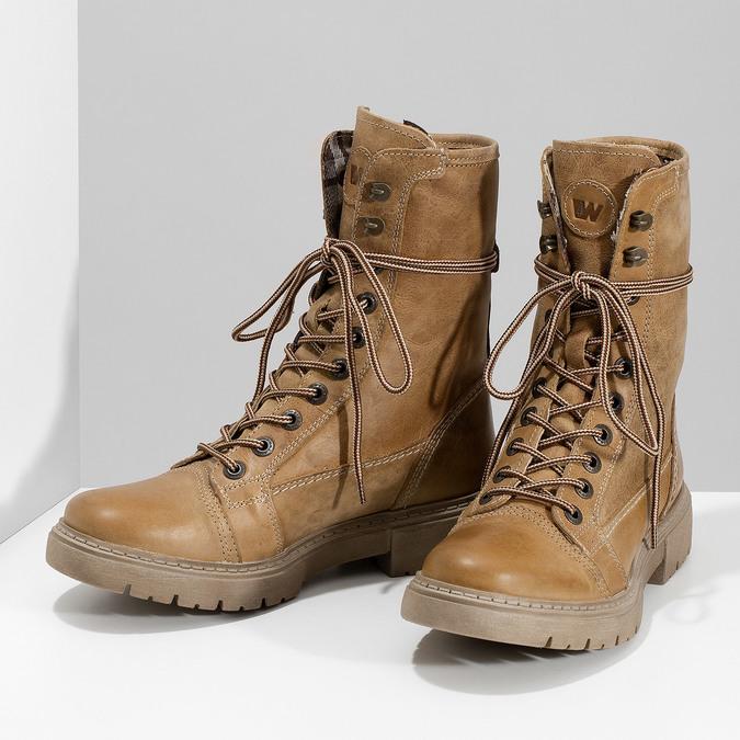 Svetlohnedá dámska kožená obuv weinbrenner, hnedá, 596-3758 - 16