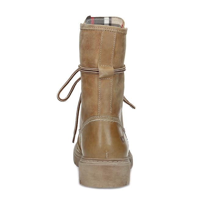 Svetlohnedá dámska kožená obuv weinbrenner, hnedá, 596-3758 - 15