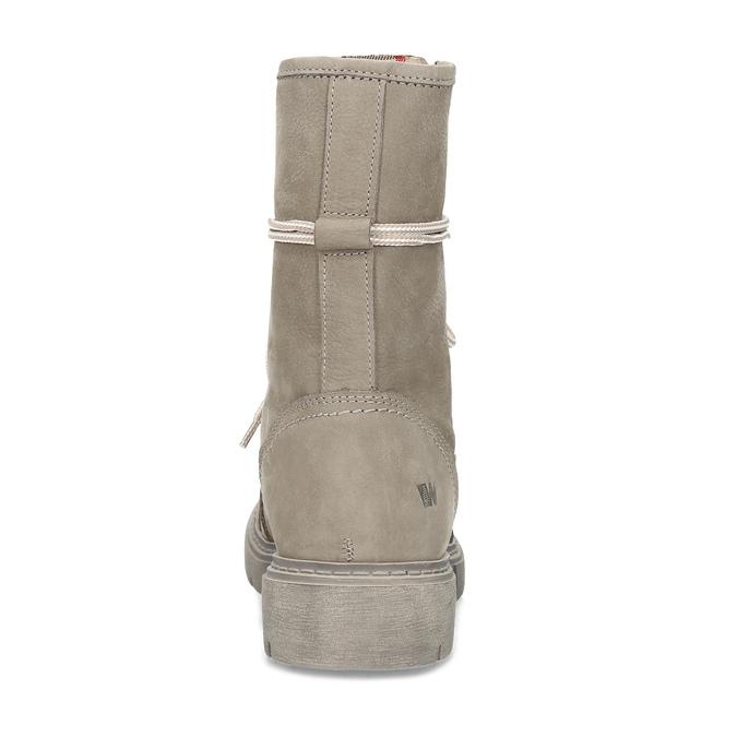 Béžová kožená dámska obuv vysoká weinbrenner, béžová, 596-8746 - 15