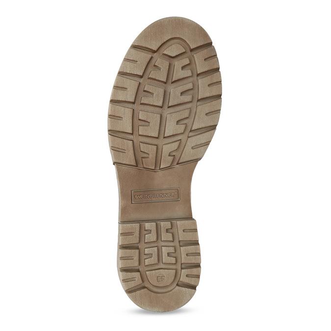 Svetlohnedá dámska kožená obuv weinbrenner, hnedá, 596-3758 - 18