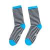 Detské pruhované ponožky bata, modrá, 919-9688 - 26
