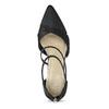 Dámske čierne lodičky s kamienkami insolia, čierna, 729-6634 - 17