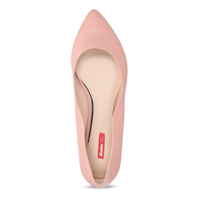 Dámske baleríny do špičky ružové bata-red-label, ružová, 521-5644 - 17