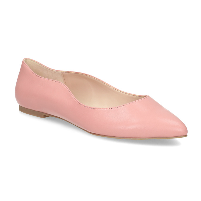 Dámske baleríny do špičky ružové bata-red-label, ružová, 521-5644 - 13