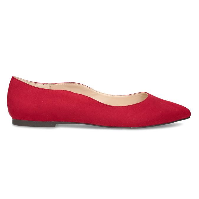Červené dámske baleríny bata-red-label, červená, 529-5644 - 19