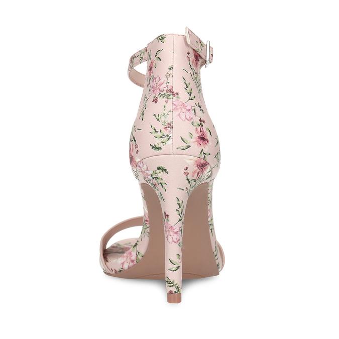 Ružové sandále na ihličkovom podpätku so vzorom bata-red-label, ružová, 761-5626 - 15