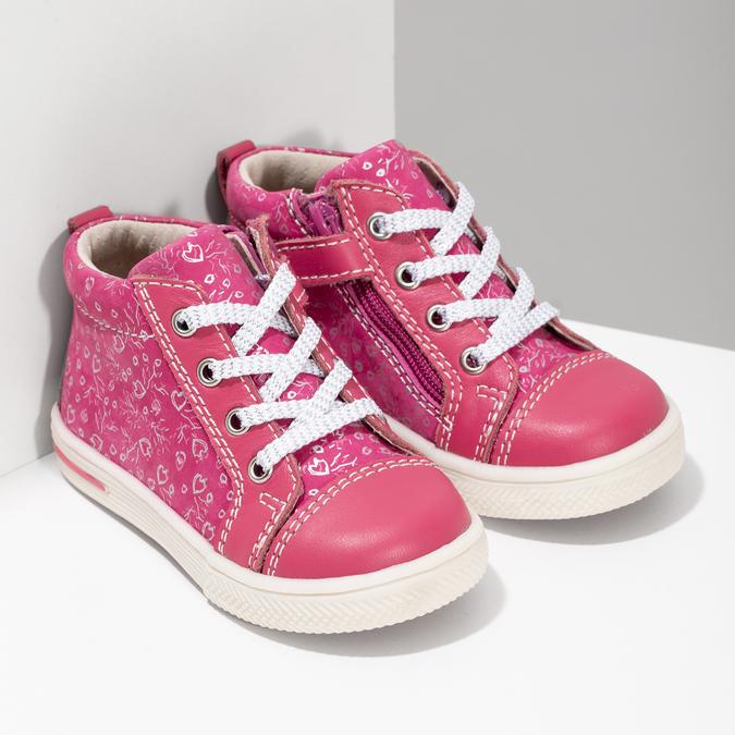 Ružové detské členkové tenisky s potlačou bubblegummers, ružová, 124-5637 - 26