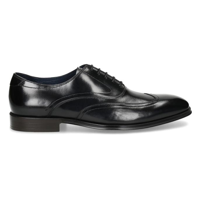 Pánske čierne kožené Oxford poltopánky bata, čierna, 824-6878 - 19