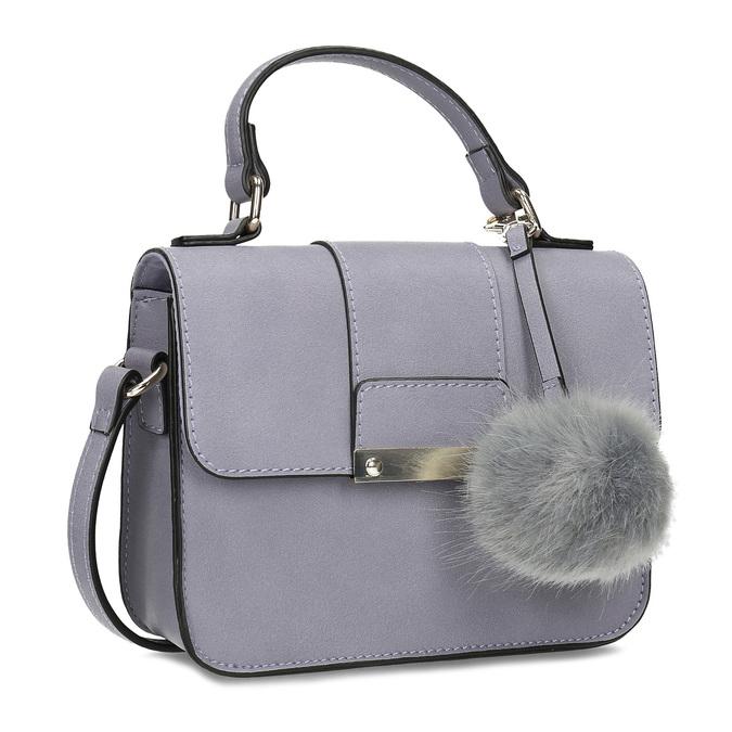 Šedá kabelka s kožušinovým príveskom bata-red-label, šedá, 961-9942 - 13