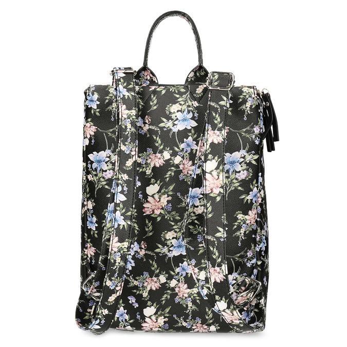 Mestský batoh s kvetinovým vzorom bata-red-label, viacfarebné, 961-0948 - 16