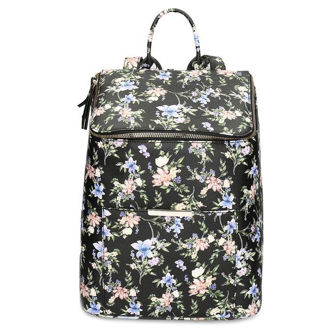 Mestský batoh s kvetinovým vzorom bata-red-label, viacfarebné, 961-0948 - 26