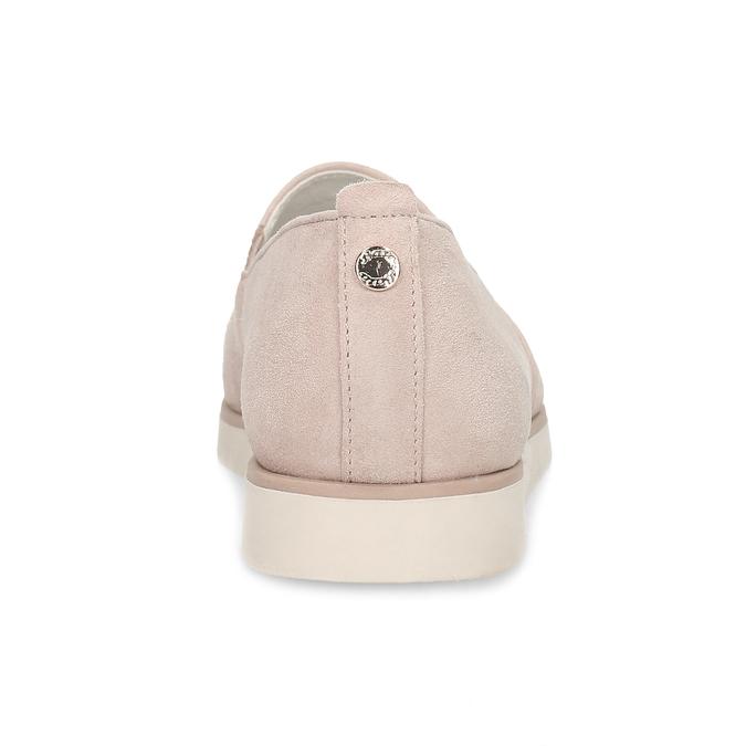 Kožené dámske mokasíny ružové flexible, ružová, 513-5609 - 15