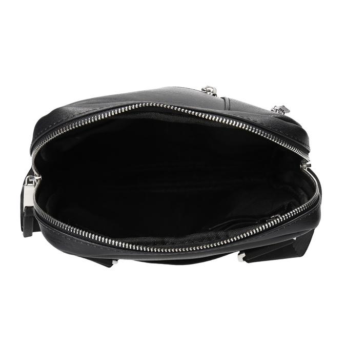 Čierna pánska Crossbody taška bata, čierna, 961-6966 - 15