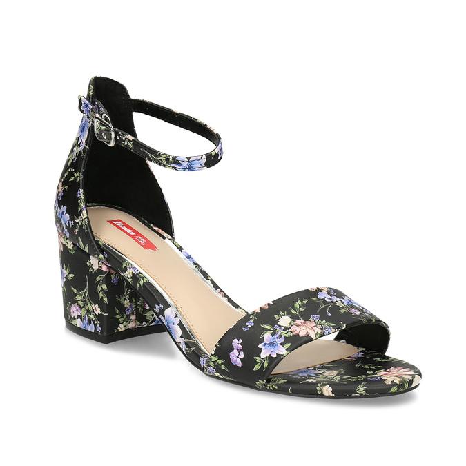 a8db72991192 Bata Red Label Čierne sandále na podpätku s kvetinovým vzorom ...