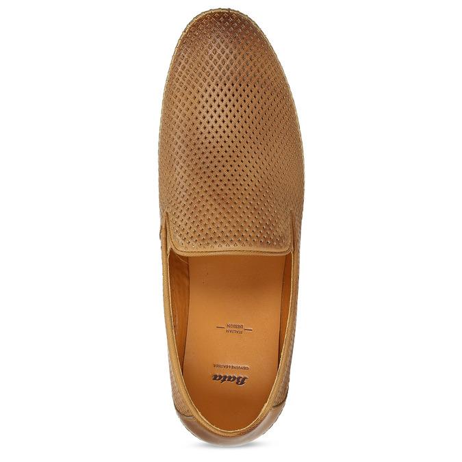 Kožené hnedé pánske Loafers bata, hnedá, 836-3627 - 17