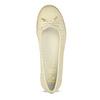 Béžové dámske kožené baleríny s perforáciou flexible, béžová, 524-8607 - 17