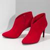 Červené dámske členkové čižmy na podpätku bata-red-label, červená, 799-5646 - 16