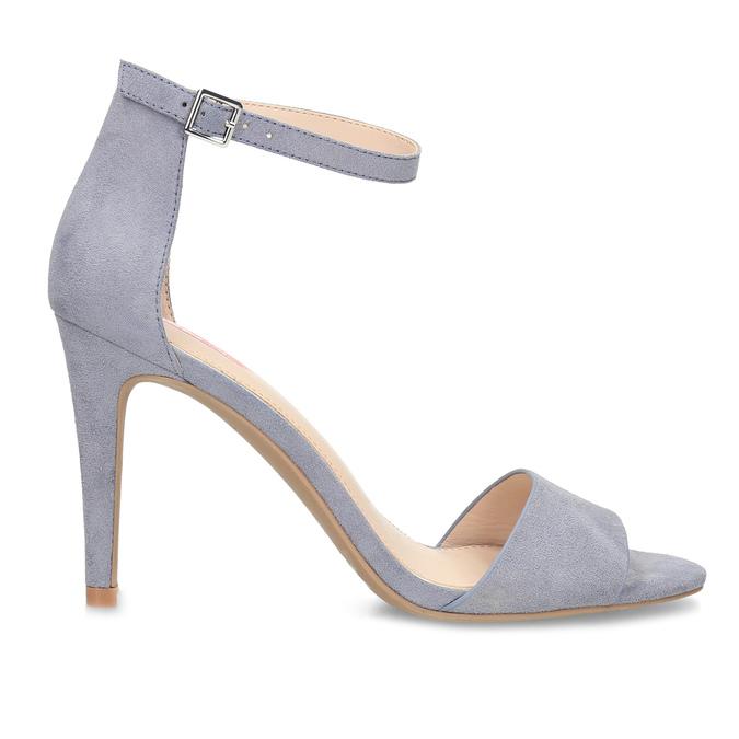 Modré dámske sandále na ihličkovom podpätku bata-red-label, modrá, 769-9626 - 19