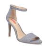Modré dámske sandále na ihličkovom podpätku bata-red-label, modrá, 769-9626 - 13