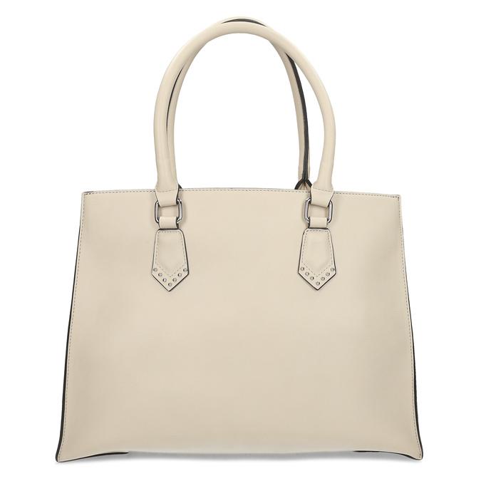 Dámska béžová kabelka s kovovými cvočkami bata, béžová, 961-8962 - 26