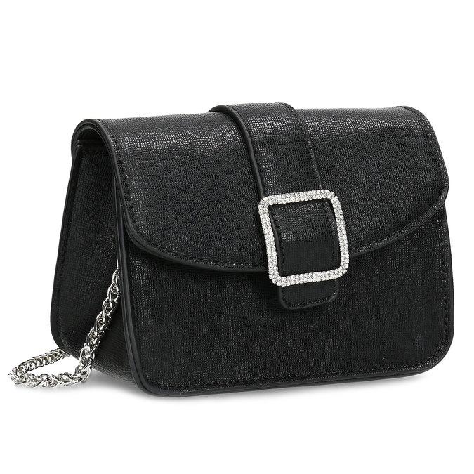 Čierna Crossbody kabelka s ozdobnou sponou bata, čierna, 961-6955 - 13
