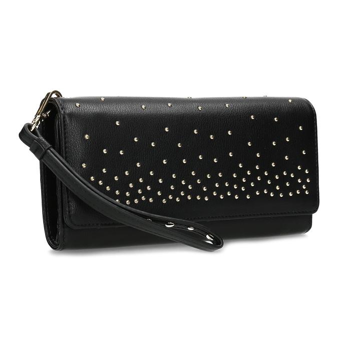 20cc9371e Čierna dámska peňaženka s kovovými cvočkami bata, čierna, 941-6645 - 13